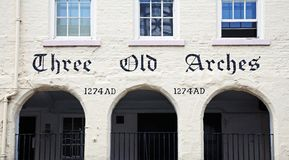 Three Old Arches building, Chester. Stock Images