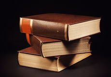 Three Old Book Royalty Free Stock Image