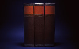 Three Old Book Royalty Free Stock Images
