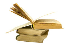 Three old books Royalty Free Stock Images