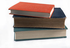 Three old books beautiful vintage cover on a white background Royalty Free Stock Image