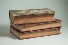 Three old books royalty free stock photo