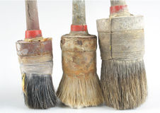 Three old brushes Stock Photography