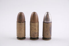 Three old bullets Royalty Free Stock Photo