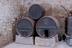 Three old casks Stock Photography