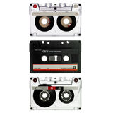 Three Old Cassette Isolated On White Stock Photo