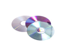 Three old cd's Royalty Free Stock Photo