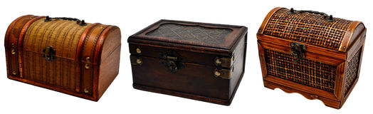 Three old chests Stock Images