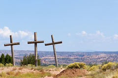 Three Old Crosses Royalty Free Stock Photo