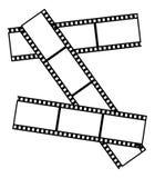 Three old films. Frame in the shape of old films vector illustration