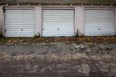 Three old garage doors Royalty Free Stock Photography