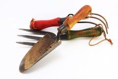 Three old hand tools Stock Photo