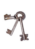 Three old keys Royalty Free Stock Images