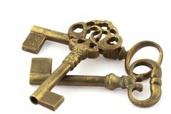 Three old keys Stock Images