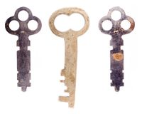 Three old keys Stock Photos