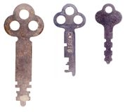 Three old keys Royalty Free Stock Image