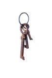 Three old keys Stock Photos