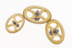 Three old little cogwheels Royalty Free Stock Photography