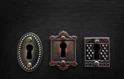 Three old locks Stock Photography