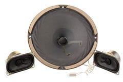 Three old loud speakers Royalty Free Stock Image