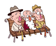 Three old man Stock Photography