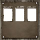 Three Old Paper Frame Stock Photography
