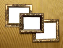 Three Old Picture Frames Royalty Free Stock Photos