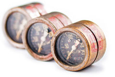 Three old rusty gauge Royalty Free Stock Image