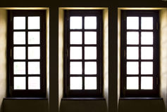 Three old style Windows Stock Photography