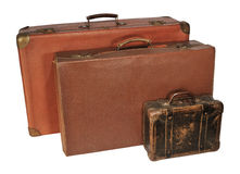 Three old suitcase Royalty Free Stock Image