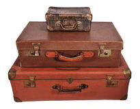 Three old suitcase Royalty Free Stock Photo