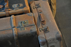 Three old suitcases Royalty Free Stock Image