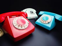 Three old telephones Royalty Free Stock Image