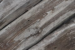 Three old textured boards diagonal background Stock Photography