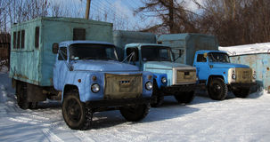Three old truck Royalty Free Stock Image