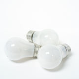 Three old tungsten light bulbs Royalty Free Stock Images