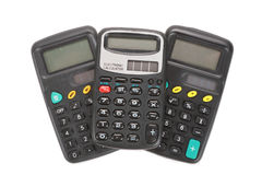 Three old vintage calculators Stock Photography