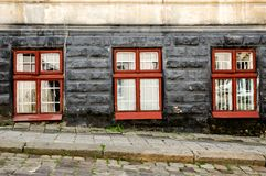 Three old vintage windows Royalty Free Stock Photography