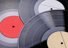 Three old vinyl records Stock Images