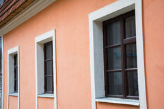 Three old window Stock Images