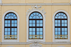Three old windows Royalty Free Stock Photos