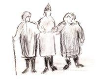 Three old women Stock Photo