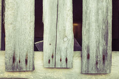 Three old wood boards with rusty nails Royalty Free Stock Image