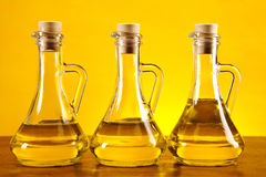 Free Three Olive Bottles Royalty Free Stock Image - 27324236