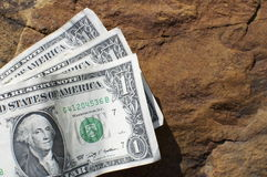 Three One Dollar Bills Royalty Free Stock Image
