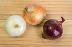 Three Onions Royalty Free Stock Photo