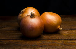 Three onions Royalty Free Stock Images