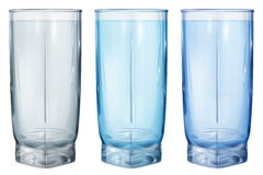 Three opaque glasses for water or juice. Three opaque glass for juice or water on white background Stock Photography