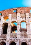 Open Arches on the Colloseum. Three Open Arches on the Colloseum under blue Sky Royalty Free Stock Photo