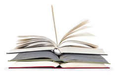 Three Open Book. On white Royalty Free Stock Images